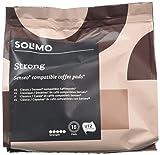 Solimo - 90 Cápsulas Compatibles con Cafetera Senseo. Espresso Fuerte.
