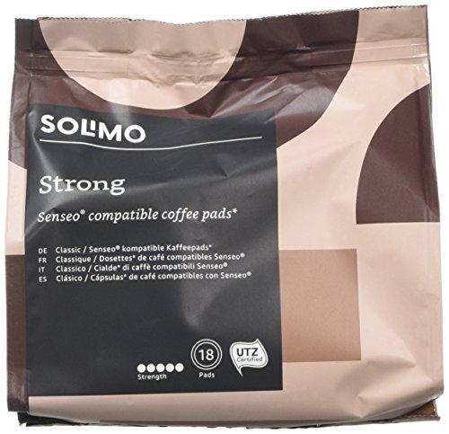 Marca Amazon- Solimo Cápsulas Strong, compatibles con Senseo*- café