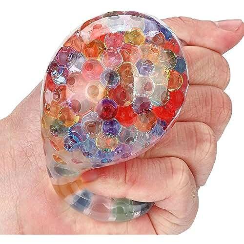 material para la escuela kawaii Juguetes Apretados, ??Xinantime Juguete Spongy Rainbow Ball Squeezable Stress Squishy Toy Bola de alivio de estrés por diversión juguete niño 6 años juguete fabrica de slime