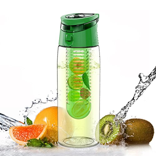 AVOIN colorlife 700ml Trinkflasche für Fruchtschorlen/Gemüseschorlen (verschiedene Farben erhältlich) - Tritan - BPA Frei