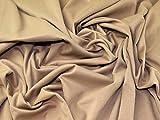 Plain Ponte Roma Stretch Jersey Knit Kleid camel–Meterware