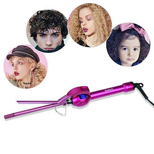 Ferro arricciacapelli,9 mm iGutech Ferro conico piastra arricciacapelli in ceramica professionale piastra per capelli ricci sottilissimo