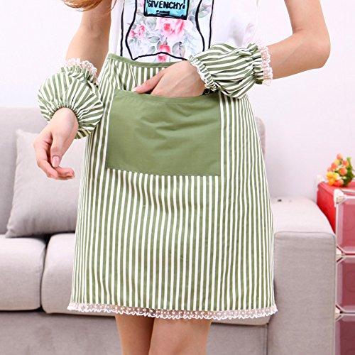 GXX [Lace strisce grembiuli busto]/grembiuli da lavoro/Cucina di casa con il grembiule di manica e pizzo grembiule a strisce-B