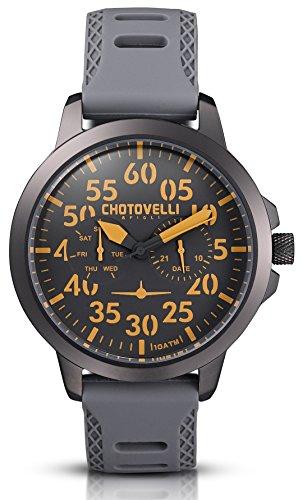 Chotovelli - Herren Pilotenuhr - Multifunktional - Militär Silikon armband 33.15