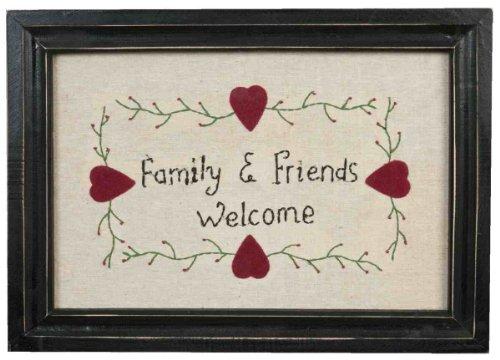 61559 Clayre & Eef - Cartello di porta decorativo - Family & Friends ca. 39 x 27 cm