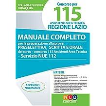 Manuale per il concorso - 115 Assistenti Area Tecnica Regione Lazio