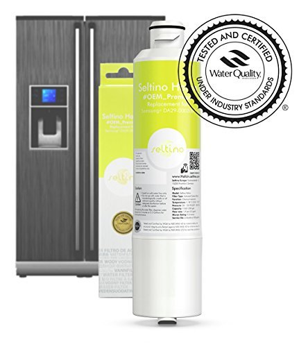 Seltino HAFCIN- kompatibler Wasserfilter für Samsung Kühlschränke, ersetzt DA29-00020B, HAFCIN/EXP, DA99-02131B, HAF-CIN/EXP, NSF/ANSI