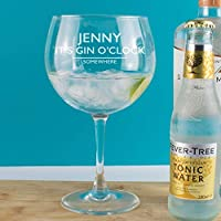 Personalised It's Gin O'Clock Copa Balloon Glass Gift