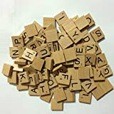 Wooden Scrabbles Tiles Full Set Of 100, scrabbles letters for crafts, Board Games, Jewellery Making Kit VARNISHED TILES PLUS FREE GIFT By NMIT®