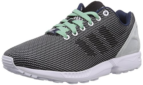 adidas Originals Zx Flux Weave, Baskets Basses mixte adulte Blanc - Weiß (Ftwr White/Core Black/Dark Blue)