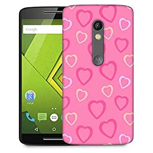 Snoogg Heart Pink Designer Protective Phone Back Case Cover For Moto G 3rd Generation