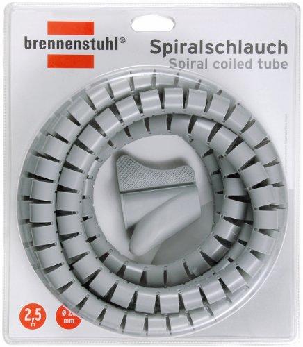 Brennenstuhl Spiralschlauch, Länge 2,5 m, durchmesser 20 mm, grau, 1164360 Hawks-lampe