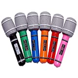 VORCOOL 6pcs Inflatable Microphone 24CM Kids Toy - Random Color