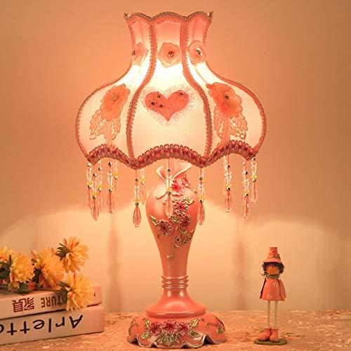 Tischlampe, Kreative Moderne Minimalistische Schlafzimmer Nachttischlampe Wohnzimmer Studie Hotel Hochzeit Mode Dekorative Taste Tischlampe (schwarz Rot Weiß Rosa) Dekorative Tischlampe
