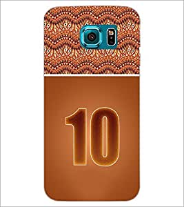 PrintDhaba Numerology Number 10 D-3643 Back Case Cover for SAMSUNG GALAXY S6 (Multi-Coloured)
