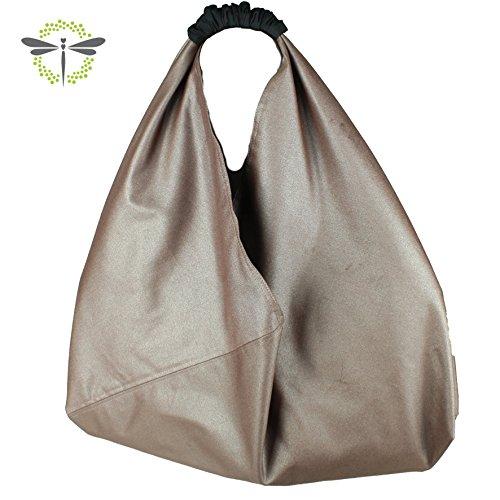 origami-tasche-shopper-einkaufstasche-schultertasche-metallisch-rose-innen-punkte-auf-schwarz-neues-