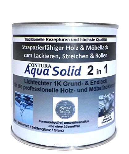 750ml. Holzlack Möbellack Klarlack 2 in 1 Grundierung + Lack Tischlerlack Versiegelung farblos für...