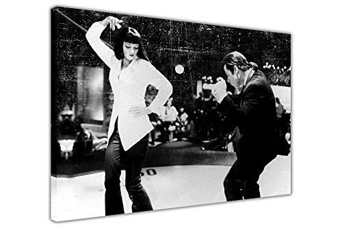 Canvas It Up Pulp Fiction Kunstdruck auf gerahmter Leinwand, Film-Poster, canvas, 08- A0 - 40
