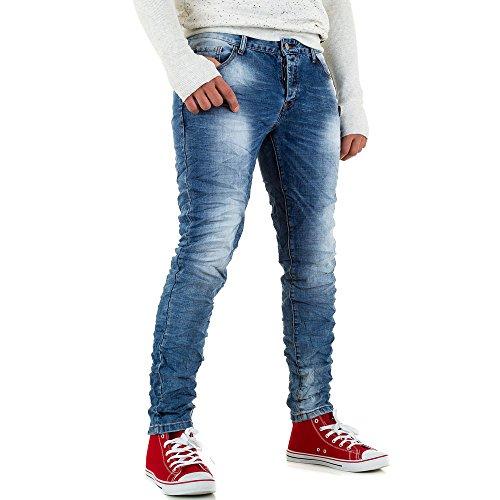 Used Look Slim Fit Jeans Für Herren bei Ital-Design Blau