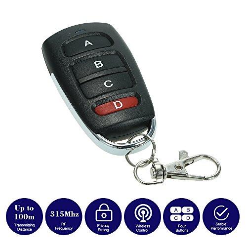 Festnight 315MHz 4 Botones Touch Switch Copiadora Transmisor Clonación Duplicador Garaje Abridor Eléctrico Garaje Puerta Control Remoto Llavero