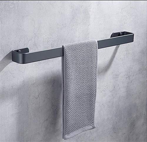 PP&DD Handtuchstange Ohne Bohren Handtuchhalter,schwarz Weltraum Aluminium Bad Handtuchhalter Küche Badezimmer Handtuchhalter Stange -b 30cm(12inch)