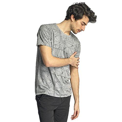 SHINE Original Herren Oberteile / T-Shirt Stripes Grau