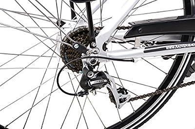 "28"" Zoll Alu Damen Elektro Fahrrad E Bike Pedelec Shimano 8 Gang 36V 13Ah silber B Ware"