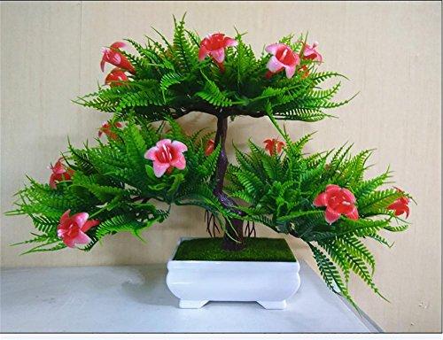 artificial Bonsái Bonsai sintético decorativo Artificial flor de la planta con Potted Decoración tabla sala estar afortunada Feng Shui Decorativa árboles floración , #18.24