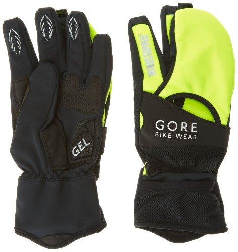 Gore Bike Wear Fusion Windstopper Soft Shell - Guanti da uomo, Giallo (Giallo Fluo/Nero), XXXL (Taglia del produttore : 11)