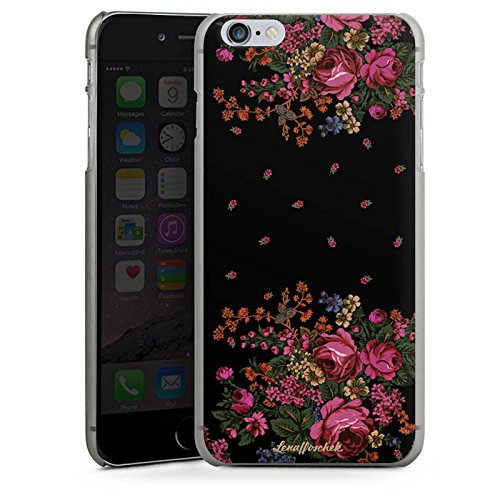 Apple iPhone X Silikon Hülle Case Schutzhülle Rosen Fashion Mode Hard Case anthrazit-klar