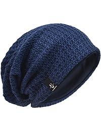 7694d08eaa5 Men Oversize Beanie Slouch Skull Knit Large Baggy Cap Ski Hat B08