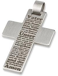 "Acero inoxidable-Kreuz-colgante ADAMO ""Padre Nuestro"" 3,50 cm"