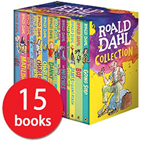 Roald Dahl: 15 books collection pack: The Witches, Matilda, The BFG, Going Solo, the Giraffe the Pelly and Me, The Magic Finger, James and the Giant Peach, The Twits, Charlie and the Great Glass Elevator, Mr Fox, Esio Trot, Charlie Chocolate