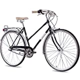 28' Zoll NOSTALGIE CITYRAD CITY BIKE DAMENRAD CHRISSON VINTAGE CITY LADY N3 mit 3 Gang SHIMANO NEXUS schwarz 2017