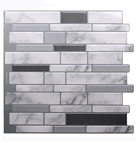 Vamos Tile Premium Anti Mold Peel And Stick Tile Backsplash,Stick On  Backsplash Wall Tiles