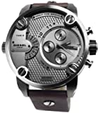 Diesel Herren-Armbanduhr Little Daddy Analog Quarz Leder DZ7258