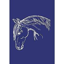 Rayher 4503100 - Plantilla de estarcido (lámina DIN A4, con raspador), diseño de caballo