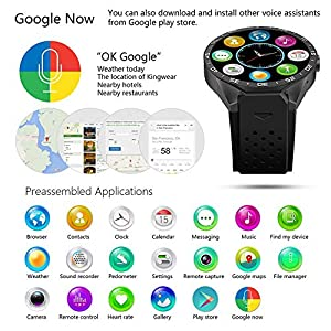Smart Watch-Android 7.0 1.3Ghz Quad-Core 16GB WiFi GPS 2MP Camera Watch Phone Heart Rate Monitor 3G Smart Watch Mobile Phone for iOS Android