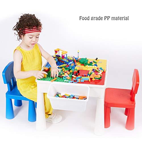 Hzl Enfants 3 en 1 Plastique d'activité Ensemble Table et 2 chaises