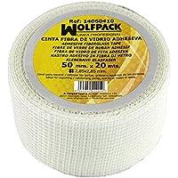 Maurer 14060410 - Cinta fibra vidrio adhesiva, 50 mm x 20 m