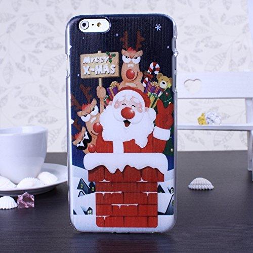 New Christmas Santa Series Snowman Deer Design Kunststoff Hard Case (Weihnachtsgeschenk) für IPhone 6S 6 ( Color : 9 , Size : IPhone 6S 6 ) 4