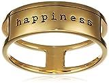 caï love Damen-Ring Statement Plates 925 Silber vergoldet Gr. 48 (15.3) - C7103R/90/00/48