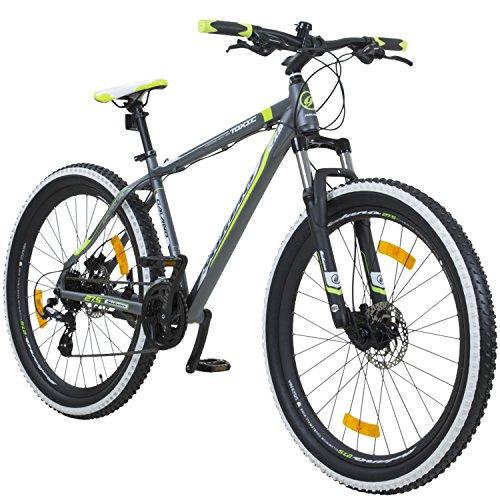 fatbike mit federung Galano 650B+ 27,5+ Zoll MTB INFINITY Mountainbike Scheibenbremsen Shimano 27,5x3.0 Fatbike, Farbe:grau/grün