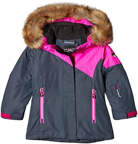 CMP Mädchen Skijacke Jacke, Asphalt, 128