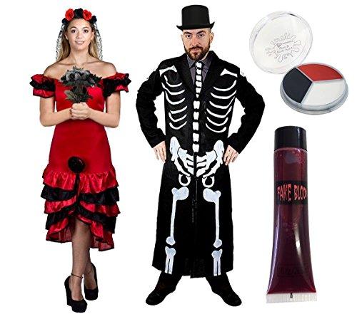 Tag Der Toten Kostüm Für Paare - PAARE MEXIKANISCHE KOSTÜM VERKLEIDUNG HALLOWEEN TAG