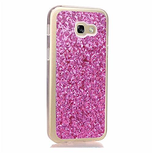 KM-WEN® Schutzhülle für Apple iPhone 6 Plus / 6s Plus (5,5 Zoll) Ultra-dünnes Mode Bling Shining Muster Slim Weiche TPU Case Cover Rückseite Schutzhülle Hülle für Apple iPhone 6 Plus / 6s Plus (5,5 Zo Rose