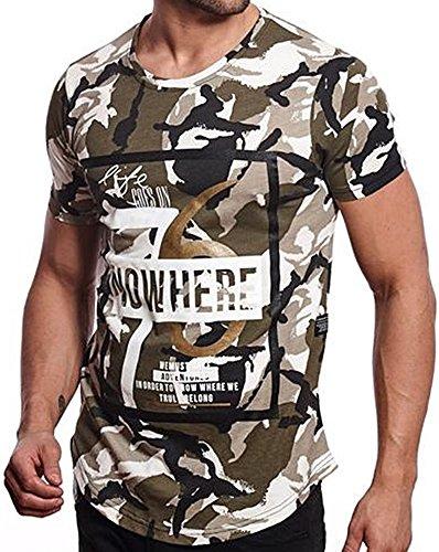 Brandneu !!! Designer T-Shirt von CARISMA in 2 Farben Camouflage CRM4355 Khaki/Camouflage