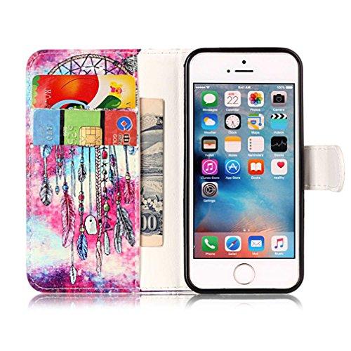 iPhone 55S se Support avec Bumper plaqué, newstars 3en 1Coque antichoc ultra fine Texture PC Coque arrière de protection rigide Shell Housse Coque protection tous les rond rotatif à 360° pour iPho Z- Marble Series 1