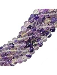 4mm morado Fluorita Gemstone Loose Beads redondo joyas DIY para hacer 15