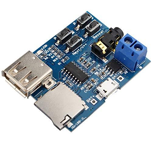 HALJIA MP3-Format, verlustfreie Decoder, Decodierung, Verstärker für MP3-Player, Audio-Modul, MP3-Decoder Board unterstützt TF-Karte, USB - Zyklus-sound-lautsprecher